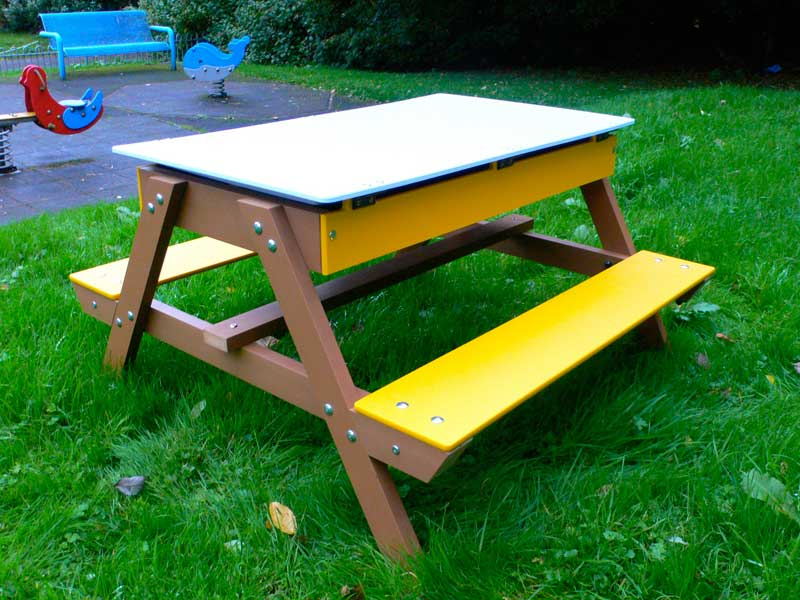 Child's convertible Art easel Picnic Table Combination